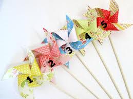 Vintage Birthday Decorations Paper Pinwheels Birthday Decorations Baby Shower Favor Wedding