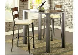 Oak Bar Table Furniture Jazlyn Ii Weathered Oak Bar Table W 2 Bar Height
