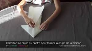 Pliage De Serviette En Papier Chausson Lutin by Pbmc Pliage Serviette Maison Hansel Et Gretel Youtube