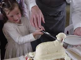 Decorating Easter Lamb Cake by Cake Wrecks Home Lamb Entations