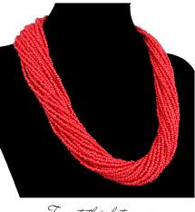 fashion jewelry red necklace images 2018 new fashion jewelry bead necklace nigerian wedding african jpg