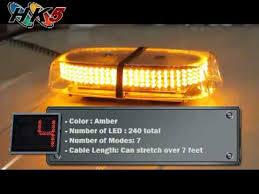 amber mini light bar 240 amber led mini strobe light bar youtube