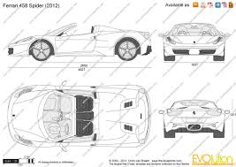 ferrari sketch side view the blueprints com vector drawing ferrari 458 spider