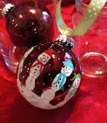 kids hand print snowman bulb decor gift for christmas 4 steps