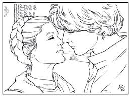 Sw Han N Leia By Amyclark On Deviantart Sw Coloring Page