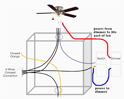 lights and ceiling fan with dimmer switch wire diagram reverse