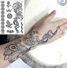 kabeer art henna and lace tattoo stickers temporary tattoo set of