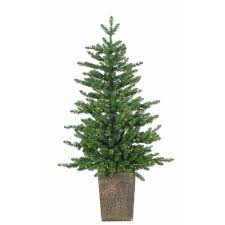 sterling 4 ft pre lit potted led artificial akron pine