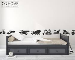 construction vehicles wall decal cars excavator bulldozer crane construction vehicles wall decal cars excavator bulldozer crane wall sticker vinyl customized nursery decoration express makeover