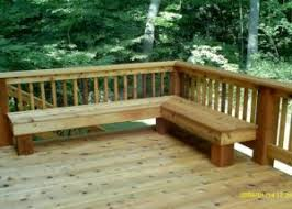 Decks With Benches Built In Photo Galleries Wood Decks Rock Solid Builders Inc