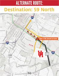 Houston Transtar Map 45 Construction Impacts From Now Until 2019 University Of Houston