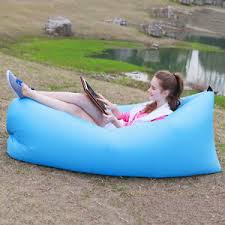 portable inflatable air sofa bed lazy sleeping camping bag beach