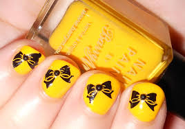 day 3 of the 30 day challenge yellow nails she who does nails