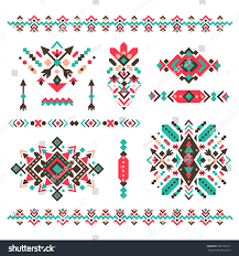 Navajo Home Decor by Set Fashion Mexican Navajo Aztec Native Stock Vector 588126077