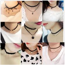 necklace choker wholesale images Hot sale wholesale black choker necklace clothing accessories for jpg