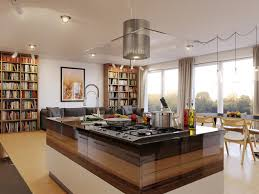 Kitchen Ideas And Designs by Luxury Kitchen Island Table With Picture And Bookshelf Kitchen