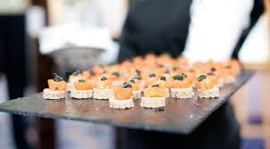 dining canapes recipes caviar recipes seafood appetizer with salmon and caviar recipe