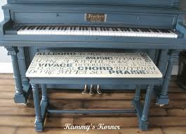 kammy u0027s korner my painted piano with subway art bench
