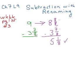 Subtracting Mixed Fractions Worksheets Showme Adding And Subtracting Mixed Numbers Without Renaming