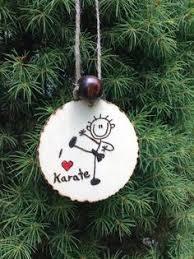 taekwondo karate black belt personalized ceramic ornament karate