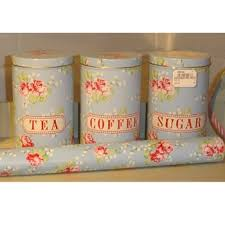 kitchen tea coffee sugar canisters vintage canisters maison blue tea coffee and