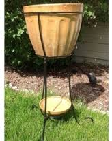 spectacular deal on square tall vase planter with ball fountain