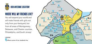 Map Of Montgomery County Pa Merion Mercy Academy Transportation