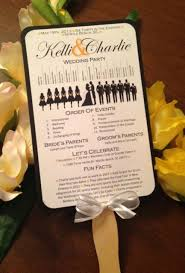 wedding program fan templates free a up of free wedding fan programs b lovely events