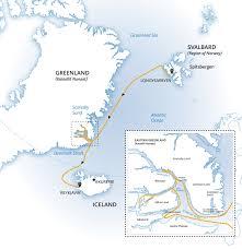 Iceland Map World Three Arctic Islands Iceland Greenland Spitsbergen World