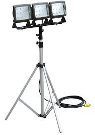 Tripod Light Led Flood Light Is Mounted On Telescoping Tripod Retrofit