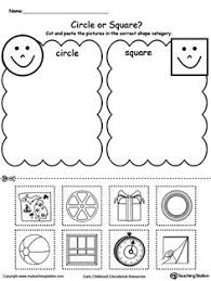 matching shapes shape matching cut and paste worksheet mckenna