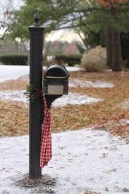 diy christmas mailbox swag u0026 scarf decor