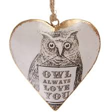 Owl Decorations by Owl Always Love You U0027 Heart Decoration By Hunter Gatherer