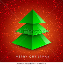 stylized christmas tree greeting card gift stock vector 119113216
