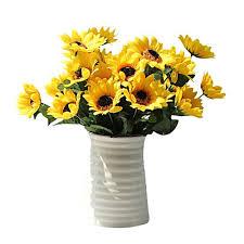 generic fake silk artificial 14 heads sunflower flower bouquet