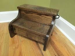 wonderfull dark wood step stool picture rustic solid oak walnut