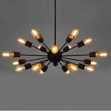 Sputnik Ceiling Light Black 18 Light Vintage Sputnik Led Pendant Light Beautifulhalo