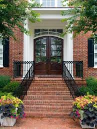 front door and plant color combos hardscape design landscaping