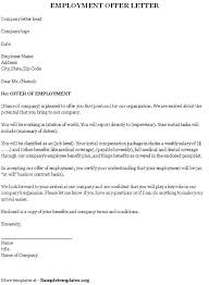 Business Letter Offer offer letter from employer employee template sle best
