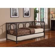 twin size black metal day bed frame with pop up high riser trundle