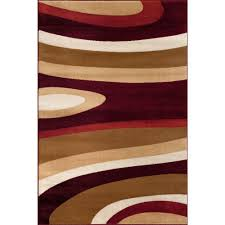 Area Rug Modern by World Rug Gallery Abstract Contemporary Modern Burgundy 3 Ft 3 In