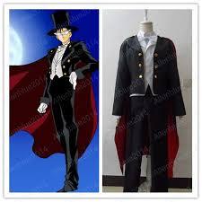 sailor moon tuxedo mask chiba mamoru cutomized costume black