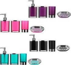 chrome bathroom accessory set by gedy contemporary bathroom black