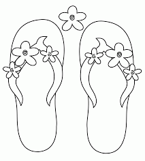 printable coloring pages flip flops coloring home