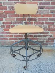 Painted Metal Vintage Cosco High Chair Industrial Desk Chair Industrial Style Office Chair From