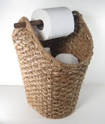 Bathroom Basket Ideas Braided Basket Toilet Paper Holder Rustic Country Style