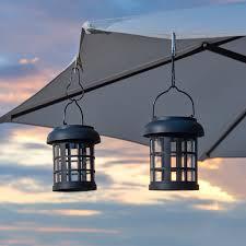 Solar Lights For Umbrella by Umbrella Hanging Solar Lanterns 2 Pack Smart Solar
