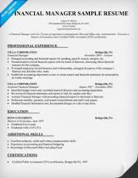 Sample Resume For Finance Manager by Download Finance Manager Resume Template Haadyaooverbayresort Com
