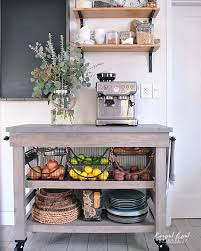 kitchen cart ideas coffee station and storage ideas for small kitchens kitchen carts