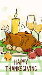 thanksgiving turkey dinner table background dining table turkey